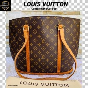 Louis Vuitton tote bag babylone monogram